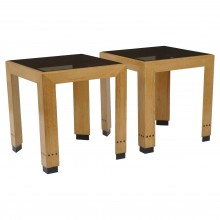 Pair of Square Oak Tables