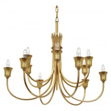 Italian Twelve Arm Brass Chandelier