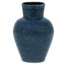 French Blue Textured Vase