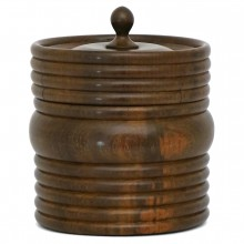 Circular Wood Tobacco Jar