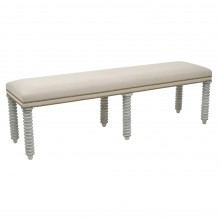 Upholstered Bench with Painted Legs
