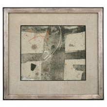 Abstract Painting on Linen by Jean Marc Louis