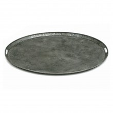 French Oval Polished Steel Tray