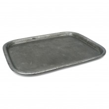 French Rectangular Polished Steel Tray