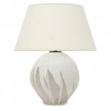 Beige and White Stoneware Lamp