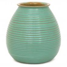 Dutch Turquoise Ribbed Vase