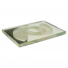 Mirrored and Frosted Glass Tray by Jean Luce