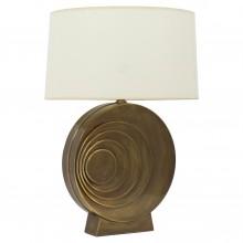 Circular Brass French Lamp