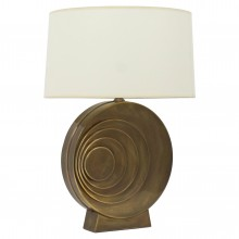 Circular Brass French Lamp