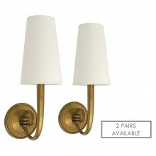 Pair of Gilded Bronze Sconces by Jean Pascaud