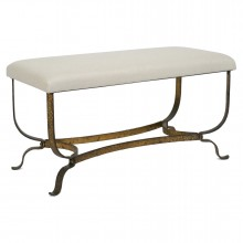 Gilt Iron Bench