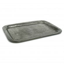 Rectangular Polished Steel Tray
