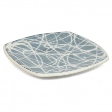 Square Blue and White Porcelain Plate