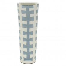 Tall Studio Art Blue and White Porcelain Vase