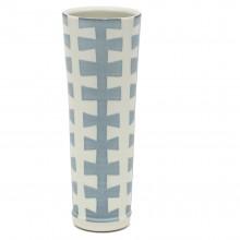 Tall Studio Art Blue and White Porcelain Vase