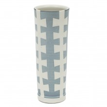 Studio Art Blue and White Porcelain Vase