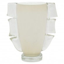 White Murano Glass Vase by Cenedese