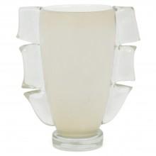 White Murano Glass Vase by Cenedese