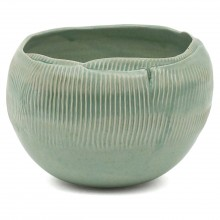 Ribbed Porcelain Bowl