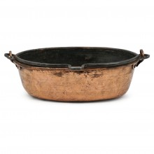 French Oval Copper Pot/Jardinere