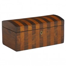 Domed Striped Wood Box