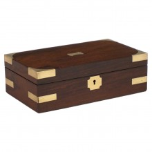 Mahogany Box with Brass Corners