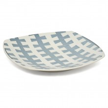 "Square ""Zipper"" Porcelain Platter"
