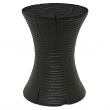 Round Teak Ribbed Table/Stool