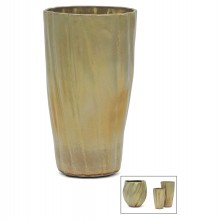 Hand Built Gold Ceramic Vase