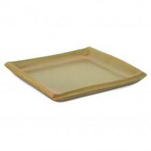 Square Ceramic Gold Plate