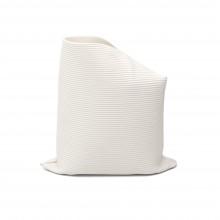 Hand Built Corregated Porcelain Vase