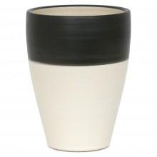 Black and White Stoneware Vase