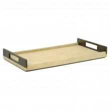 Shagreen Tray with Brass Handles