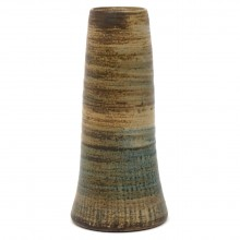 Textured Light Brown Stoneware Vase