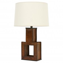 French Leather Table Lamp