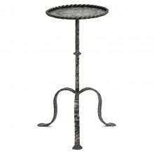 Polished Steel Tripod Table