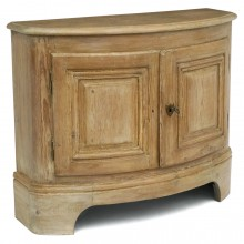 French Pine Bow Front Cabinet