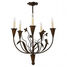Gilt Iron Chandelier