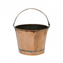 French Circular Copper Bucket