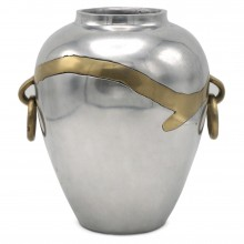 Aluminum and Brass Vase by Alfonso Marquez