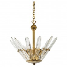 Brass and Glass Light Fixture