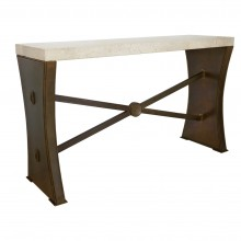 Bronze Console Table with Marble Top