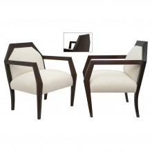 Pair of Mahogany Framed Upholstered Chairs