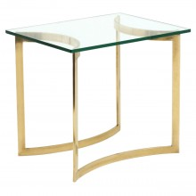 French Brass and Glass Table