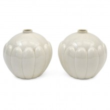 Pair of White St. Clement Vases