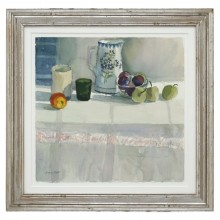 French Watercolor Still Life Painting
