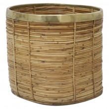 Basket with Brass Trim