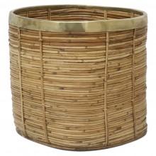 Basket with Brass Trim