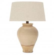 Peach Crackle Glazed Lamp