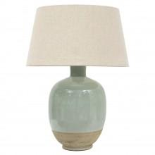 Glazed Celadon Stoneware Lamp